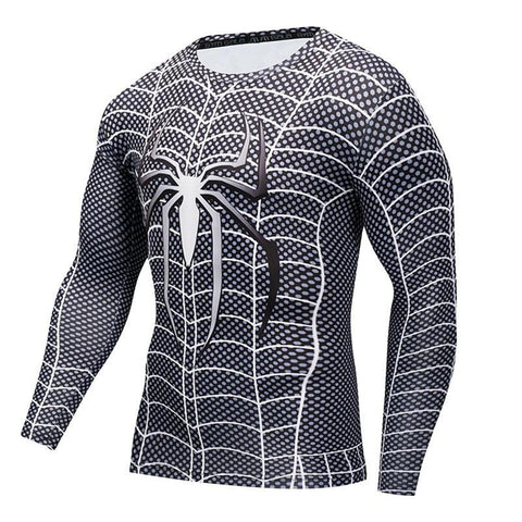 Image of Long Sleeve - Black Spiderman Rashguard (long Sleeve)