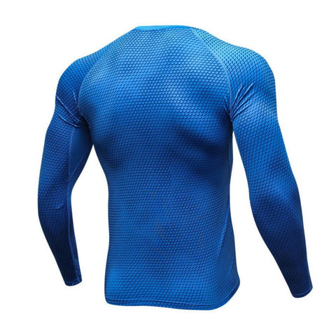 Image of Long Sleeve - Blue Rashguard (long Sleeve)