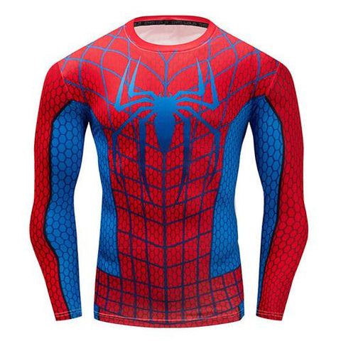 Image of Long Sleeve - Blue/red Spiderman Rashguard (long Sleeve)