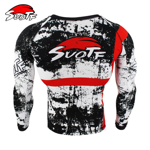 Long Sleeve - Skull / Red Cross Rashguard (long Sleeve)