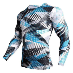 Long Sleeve - Triangle Print Rashguard (long Sleeve)