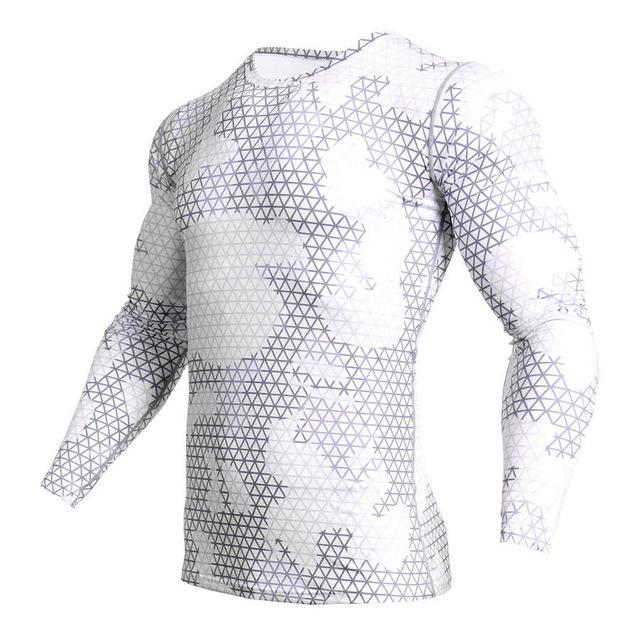 Long Sleeve - White Camo Print Rashguard (long Sleeve)