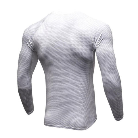 Image of Long Sleeve - White Rashguard (long Sleeve)