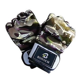 Camouflage MMA fight gloves