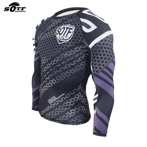 Image of SOTF hexagon print rashguard (long sleeve)