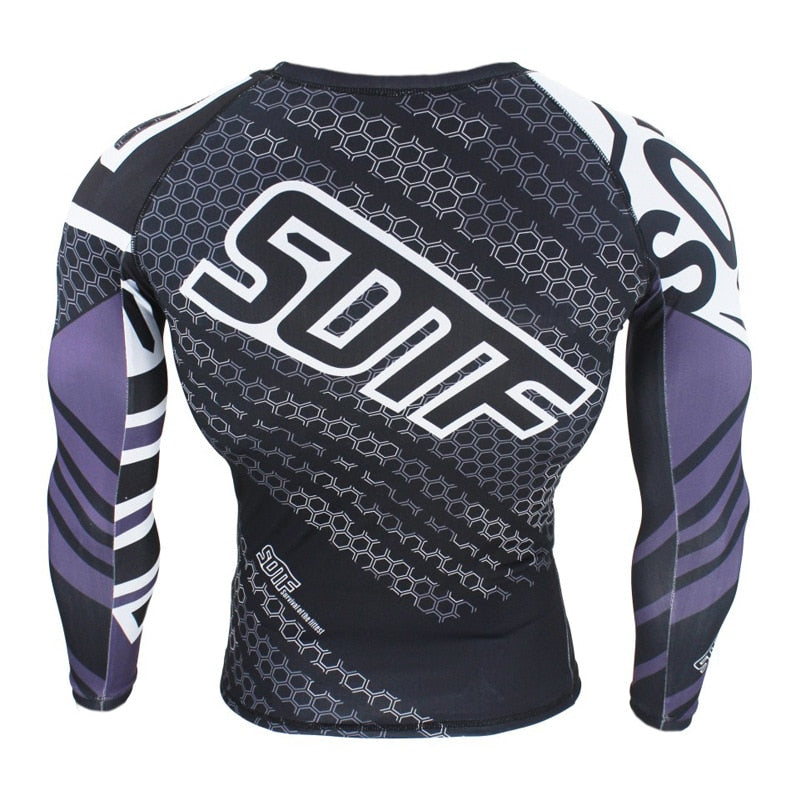 SOTF hexagon print rashguard (long sleeve)