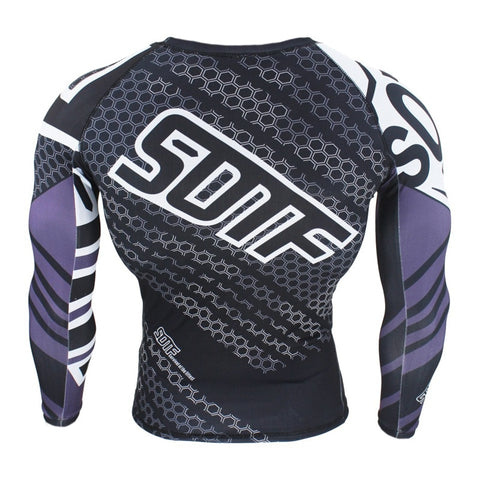 Image of SOTF hexagon print rashguard (long sleeve) and leggings