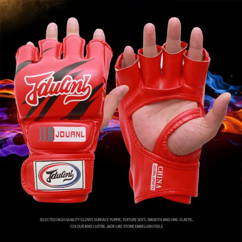 Red MMA fight gloves