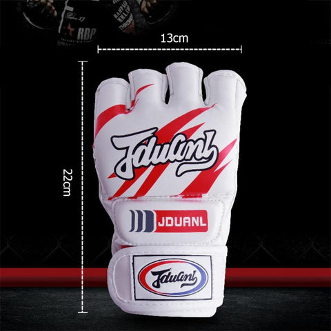 White MMA fight gloves