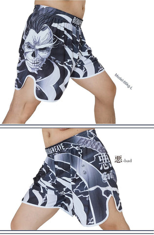 Image of Shorts - White Skull BJJ Shorts