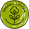 organic cotton logo green