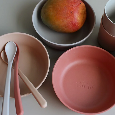 CINK bamboo dinnerware bowls and weaning spoons