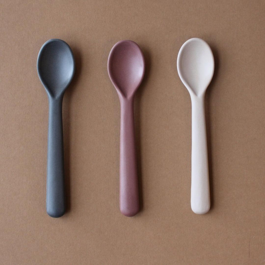 3-Pack Bamboo Toddler Spoon Set