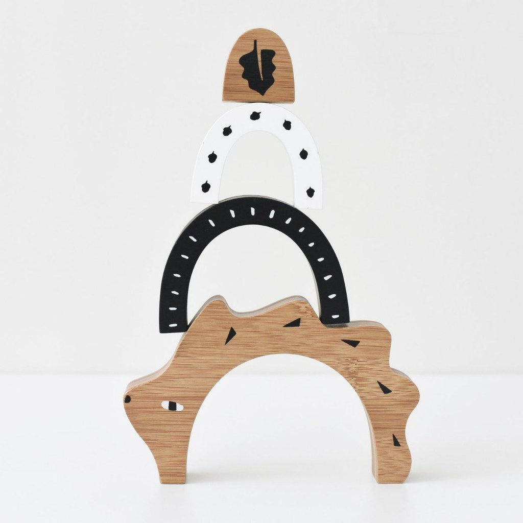 Hedgehog Bamboo Wooden Nesting Toy