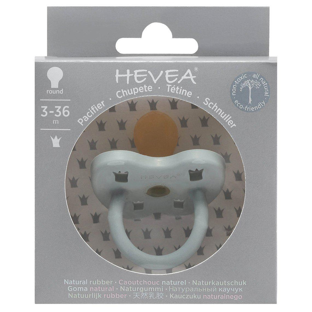 Natural Rubber Orthodontic Pacifier Gorgeous Grey 3-36m-Dummies & Pacifiers-HEVEA-Nature's Little Ones