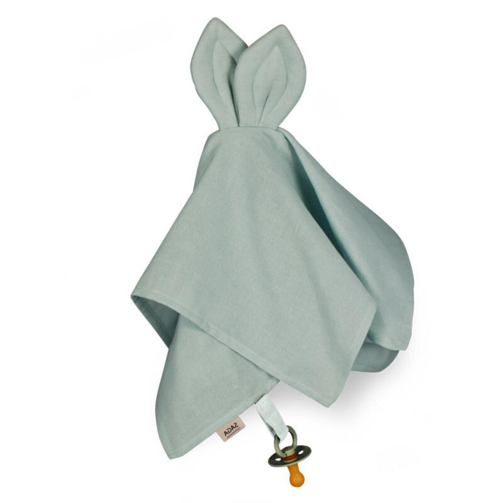 Organic Cotton Baby Comforter Dusty Green-Baby Comforter-Saga Copenhagen-Nature's Little Ones