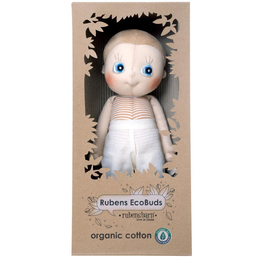 Organic Cotton Handmade Doll Rubens Barn EcoBuds Aspen-Organic Cotton Toys & Dolls-Rubens Barn-Nature's Little Ones