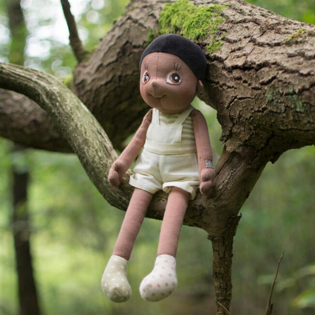 Organic Cotton Handmade Doll Rubens Barn EcoBuds Fern-Organic Cotton Toys & Dolls-Rubens Barn-Nature's Little Ones