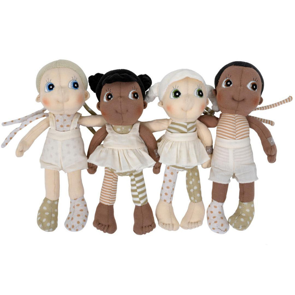 Organic Cotton Handmade Doll Rubens Barn Mini EcoBuds Basil-Organic Cotton Toys & Dolls-Rubens Barn-Nature's Little Ones