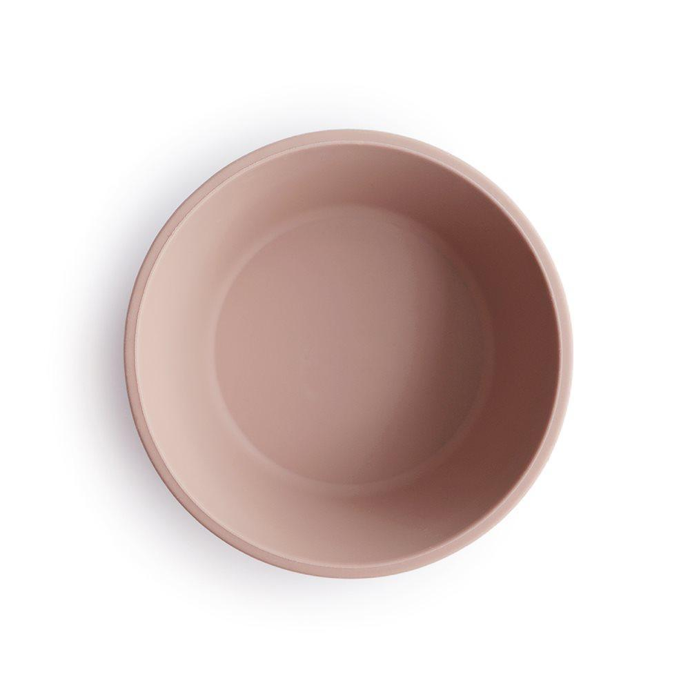 Silicone Suction Bowl Blush Pink-Bamboo & Silicone Dinnerware-Mushie-Nature's Little Ones