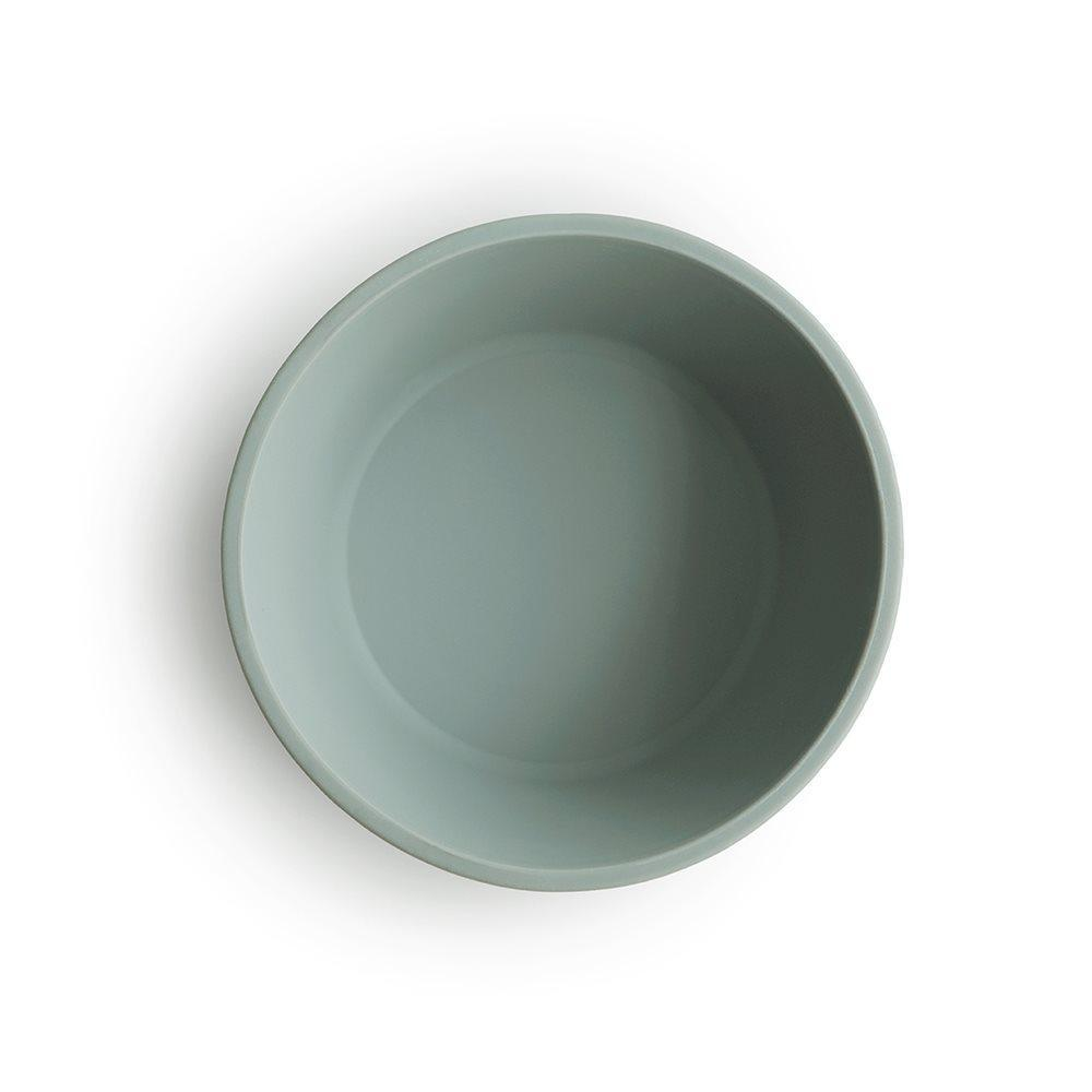Silicone Suction Bowl Sage Green-Bamboo & Silicone Dinnerware-Mushie-Nature's Little Ones