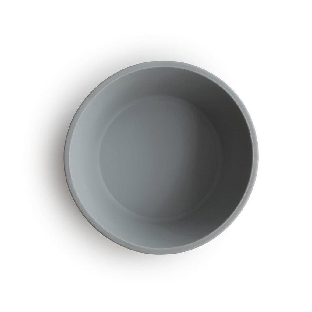 Silicone Suction Bowl Stone Grey-Bamboo & Silicone Dinnerware-Mushie-Nature's Little Ones