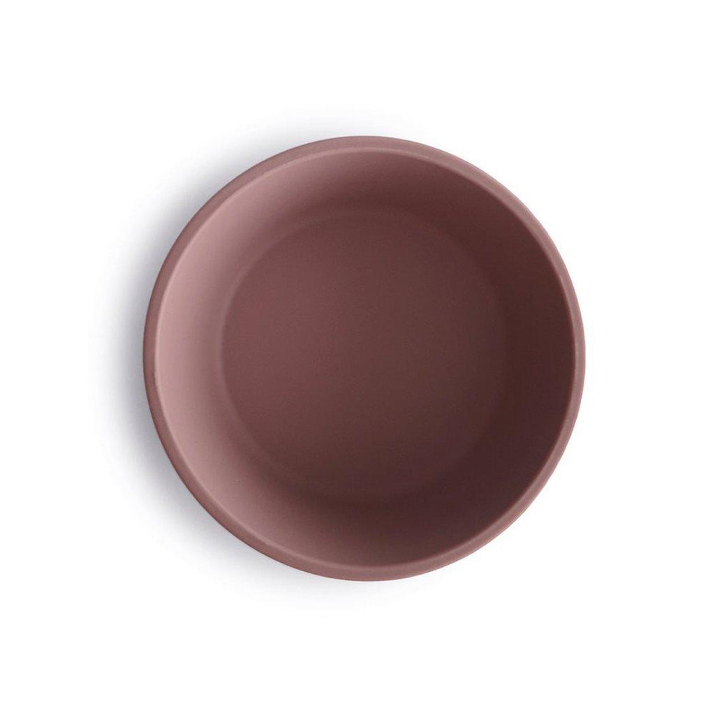 Small Silicone Suction Bowl Cloudy Mauve