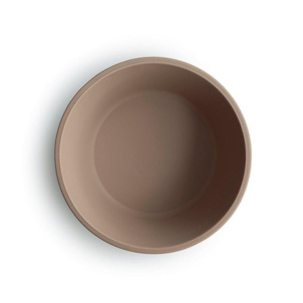 Small Silicone Suction Bowl Taupe