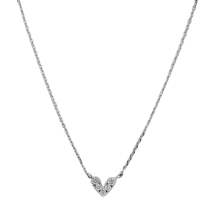 Mini Heart Pave Necklace Kids