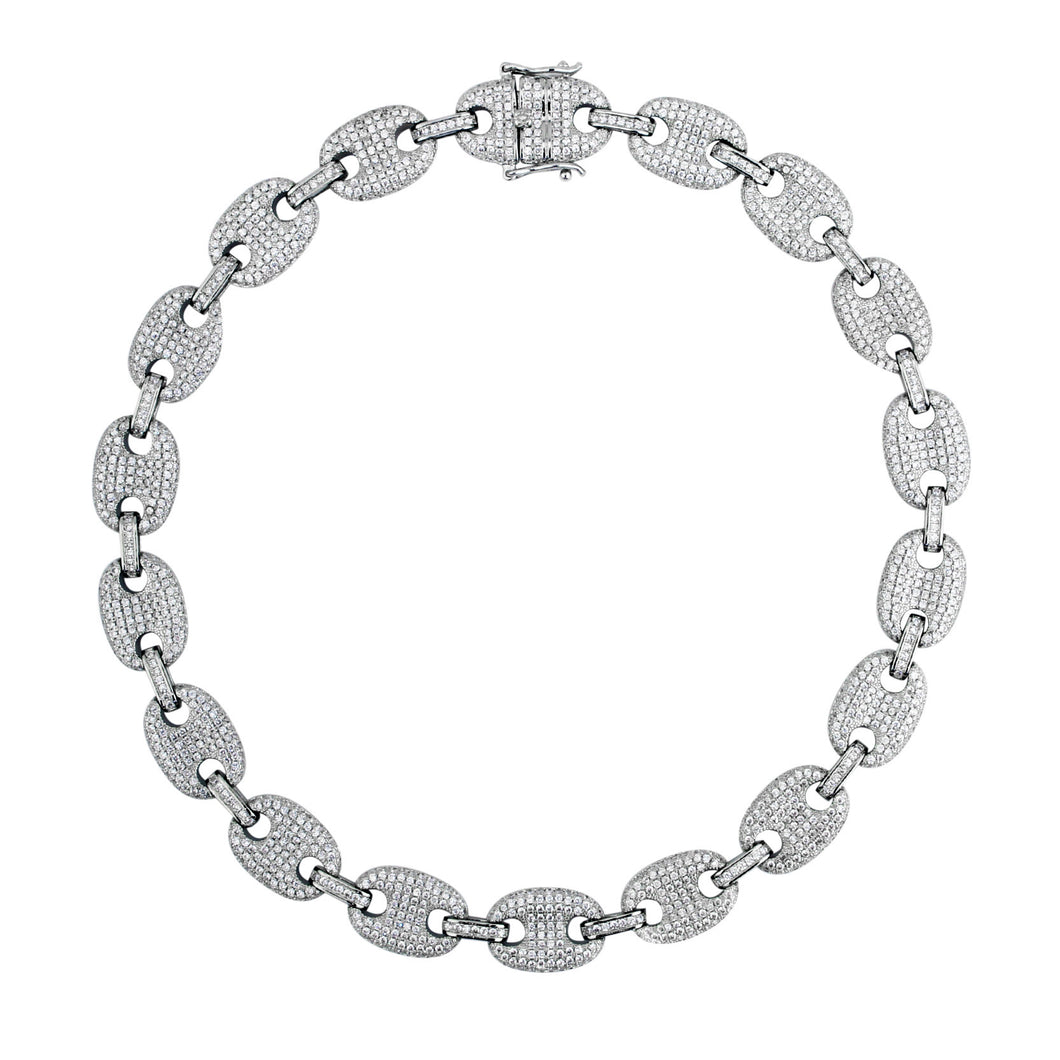Gucci Ice Link Anklet Silver