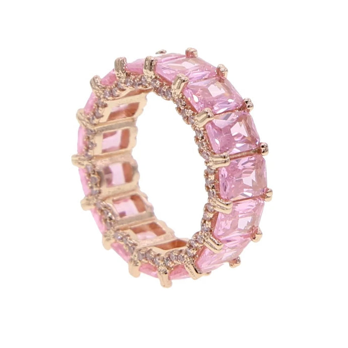 Eternity Band Ring Pink