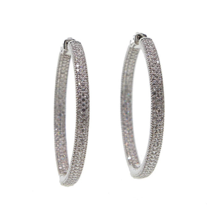 Icy Micro Pave Hoops