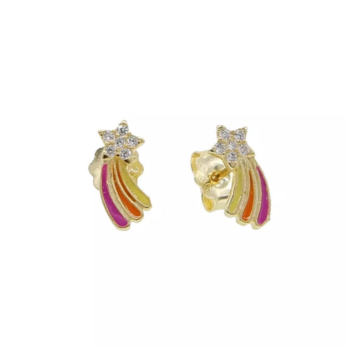 Gold Rainbow Kids Studs