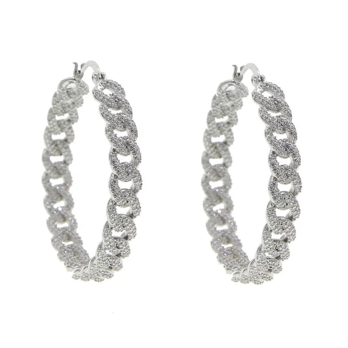 Micro Pave Link Earrings