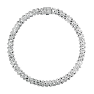 Silver Slim Cuban Necklace