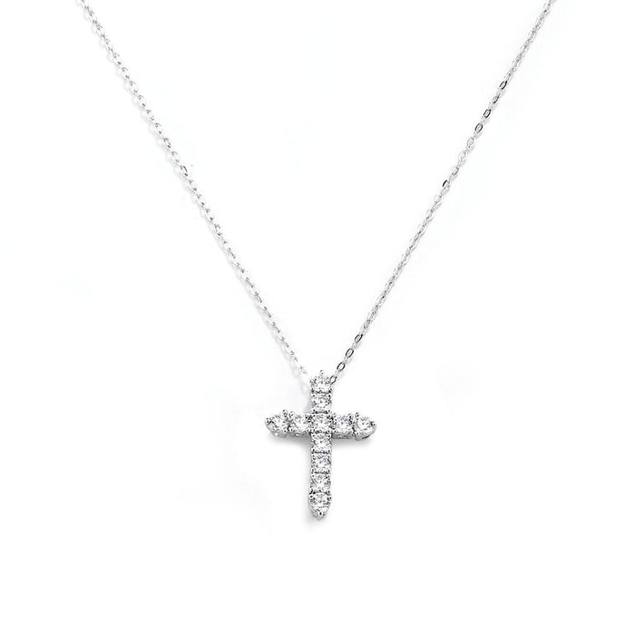 Dainty Crystal Cross Necklace Kids