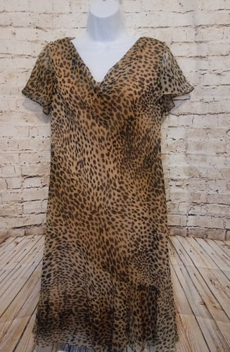 Scarlett Cheetah Print Dress Size 14P - Anna's Armoire