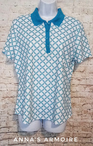 Greg Norman Play Dry Polo Top Size L - Anna's Armoire