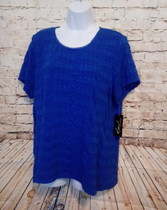 New with Tags Kim Rogers Blue Top Size XL - Anna's Armoire