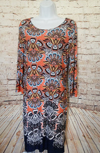 Spense Long Sleeve Floral Print Dress Size 10 - Anna's Armoire