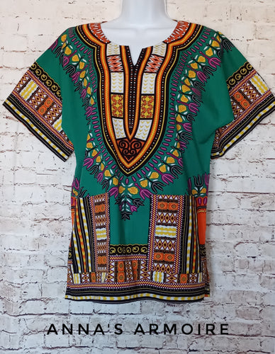 Muti-pattern Tunic Top Size S