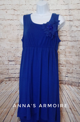 Cato Sleeveless Blue Dress Size L - Anna's Armoire