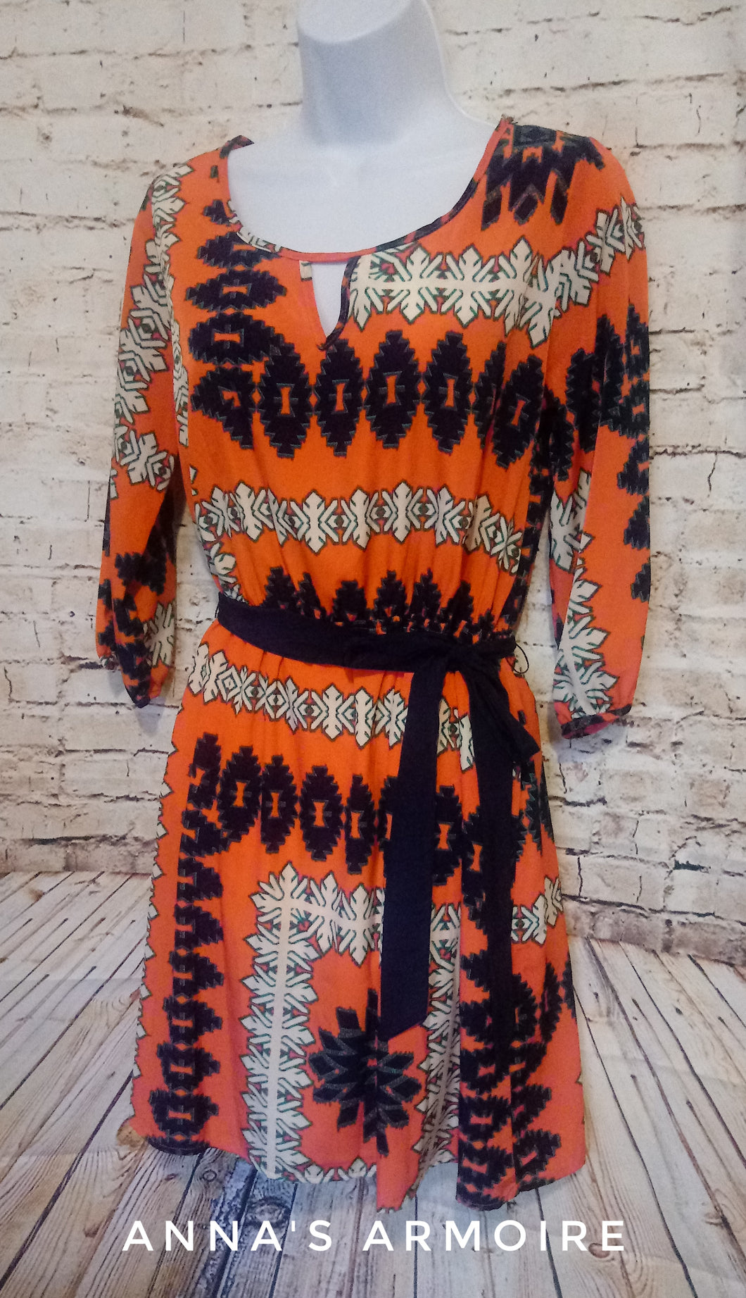 Wish Orange and Blue Southwest Print Dress Size S - Anna's Armoire