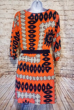 Load image into Gallery viewer, Wish Orange and Blue Southwest Print Dress Size S - Anna's Armoire