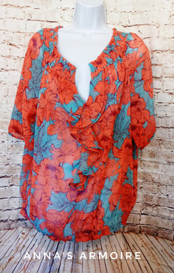 a.n.a. Sheer Top Size 1X - Anna's Armoire