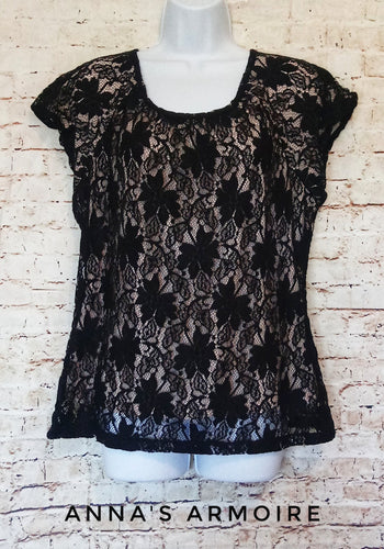 Worthington Lace Top Size L - Anna's Armoire