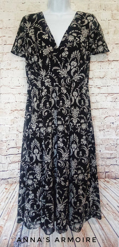 Dress Barn Midi Dress Size 10 - Anna's Armoire