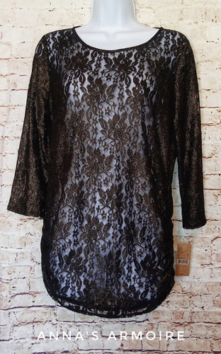 New with Tags Cremeiux Lace Top Size M