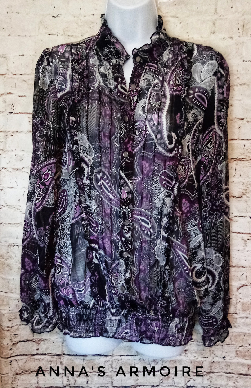 Maurices Sheer Top Size L - Anna's Armoire