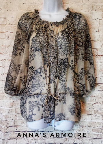 Faded Glory Sheer Top Size S - Anna's Armoire